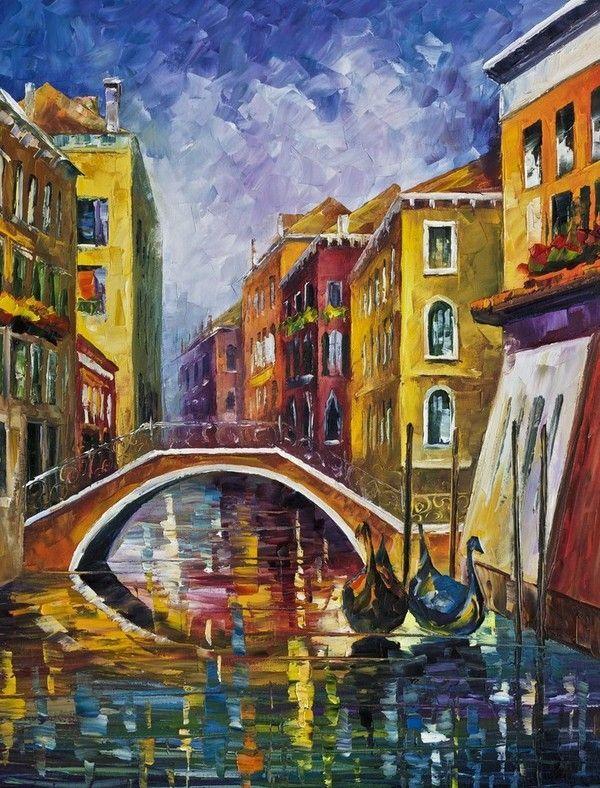 Afremov yağlı boya manzara resimleri ünlü ressamların tabloları